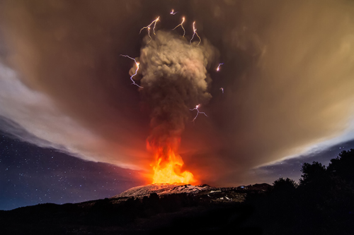 Etna Eruption Footage Licensing